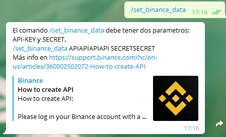 set binance data 2